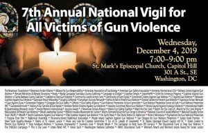 7th Annual National Vigil for All Victims of Gun Violence @ St. Mark's Episcopal Church- Capitol Hill